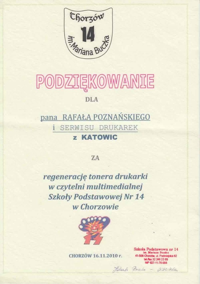 Opinie o serwisie drukarek Rafcom Katowice